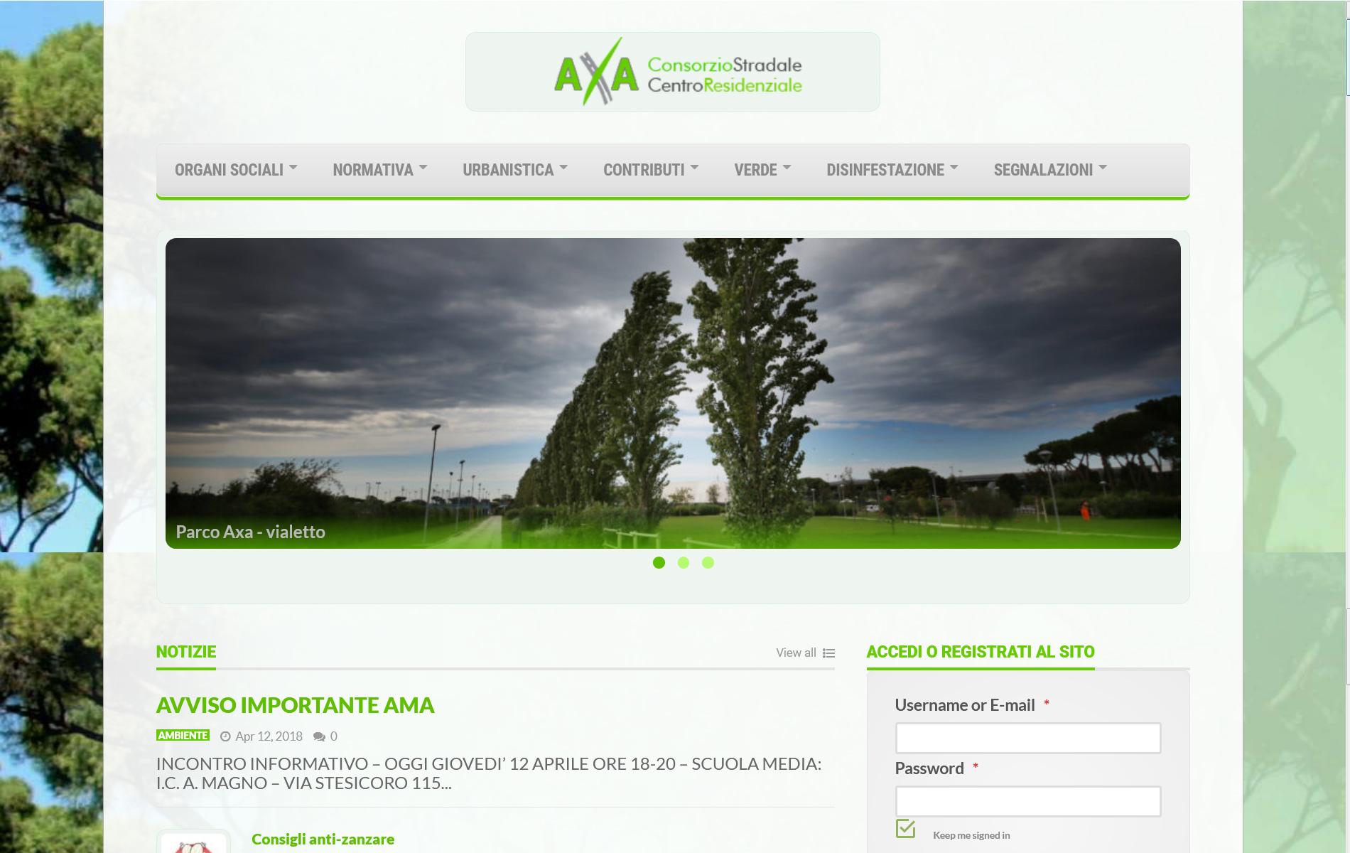 Consorzio AXA - Consorzio Stradale e Centro Residenziale