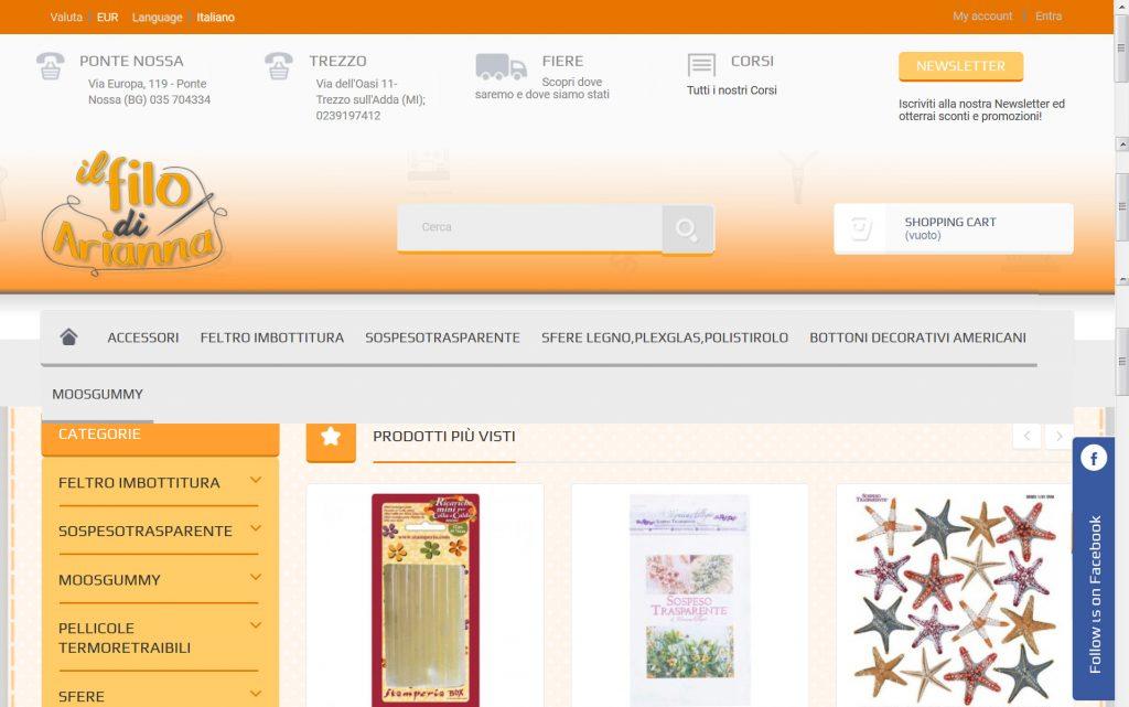 Ilfilodiarianna.it e-commerce l'hobbistica e fai da te femminile