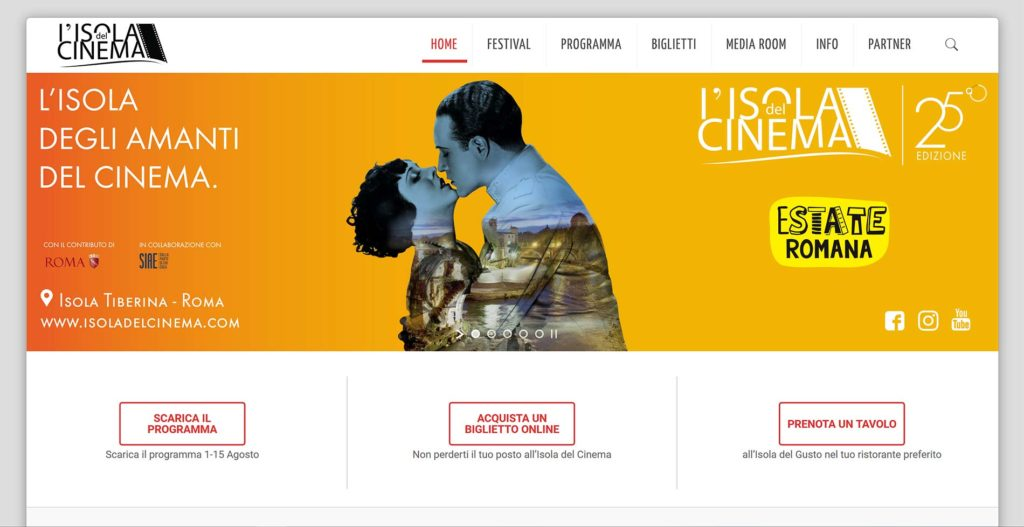 Isola del Cinema - 25esima ed - by Yesweb.it